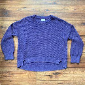 Universal Thread Purple Cropped Knit Sweater, XL